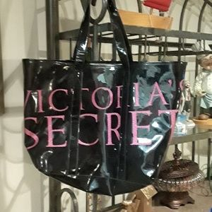 Victoria Secret Black/ Pink Tote